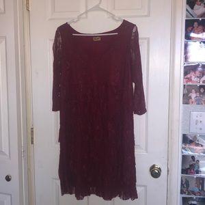 Wrangler L maroon dress. never worn!